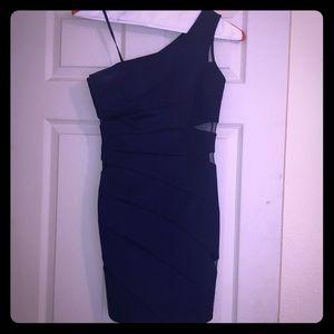Girl's One Shoulder Blue Evening Dress Size XS